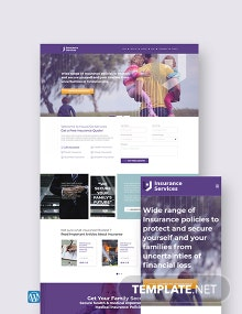 Insurance Agency WordPress Theme/Template