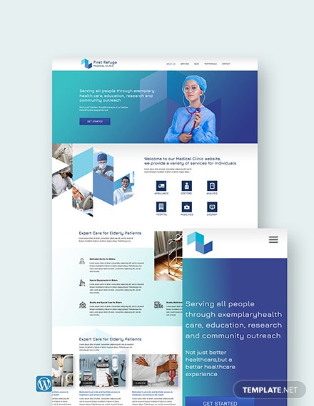 Medical Clinic WordPress Theme/Template