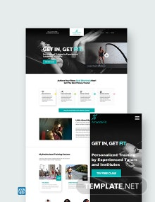 Personal Trainer WordPress Theme/Template