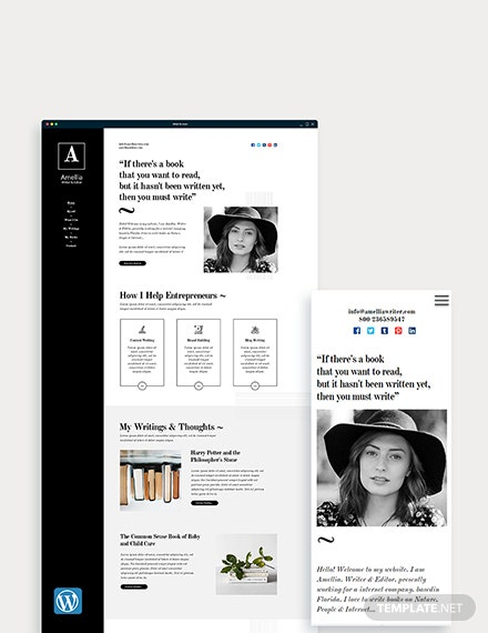 Author & Writer WordPress Theme/Template