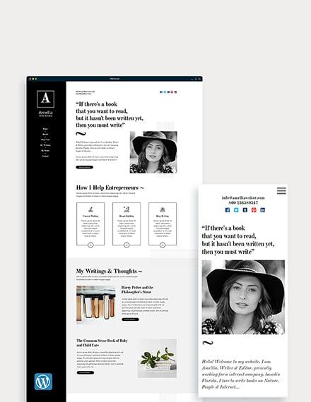 Author & Writer WordPress Theme/Template