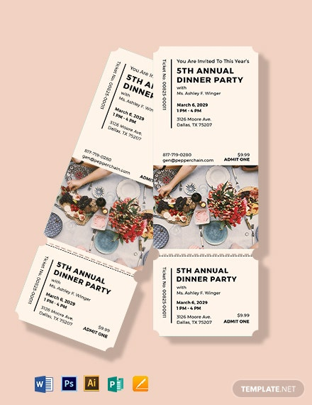 annual dinner party ticket