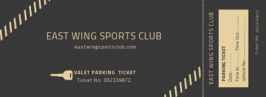 Valet Parking Ticket Template