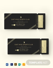 Valet Parking Ticket Template