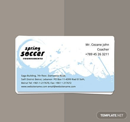 Free Soccer Business Card Template