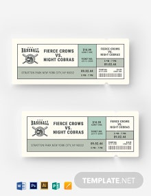 Vintage Baseball Ticket Template