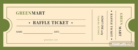 vintage raffle ticket