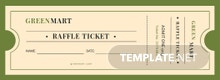 Vintage Raffle Ticket Template