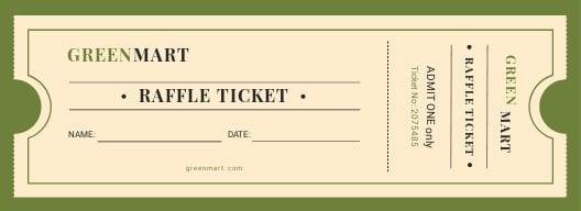 Vintage Raffle Ticket Template
