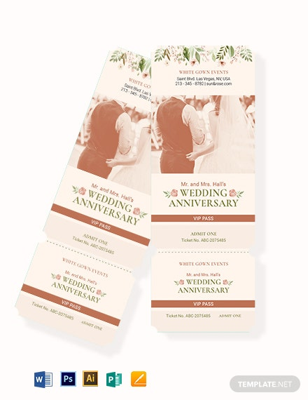 fall wedding vip ticket