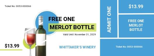 Wine Drink Ticket Template