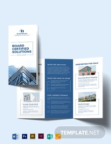 Professional Real Estate Broker Tri-fold Brochure Template