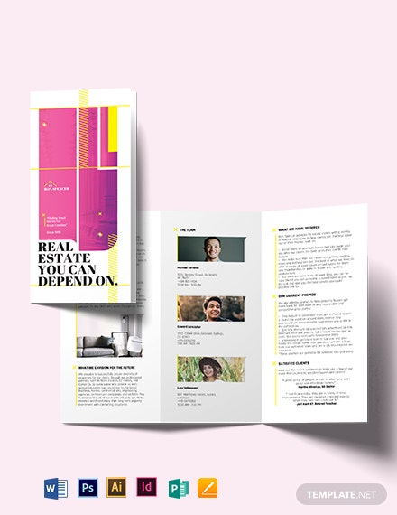 Real Estate Broker Marketing Tri-fold Brochure Template