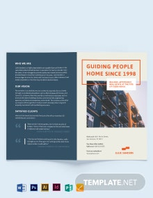 Licenced Real Estate Broker Bi-fold Brochure Template