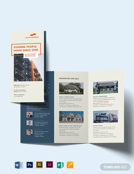Licenced Real Estate Broker Tri-Fold Brochure Template