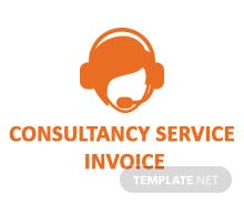 Free Consultancy Service Invoice Template