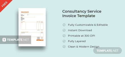 Free Consultancy Service Invoice Template