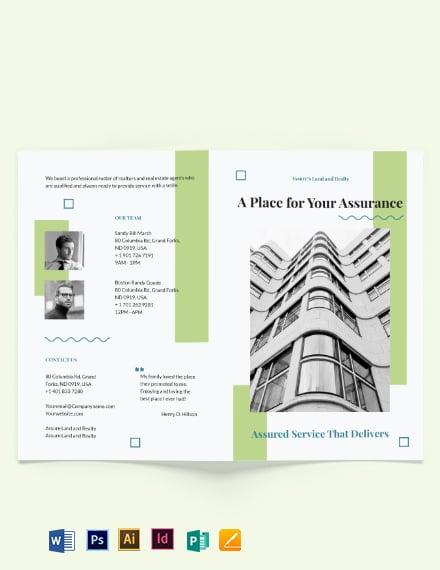 Realtor Personal Branding Bi-Fold Brochure Template