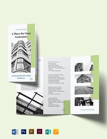 Realtor Personal Branding Tri-fold Brochure Template
