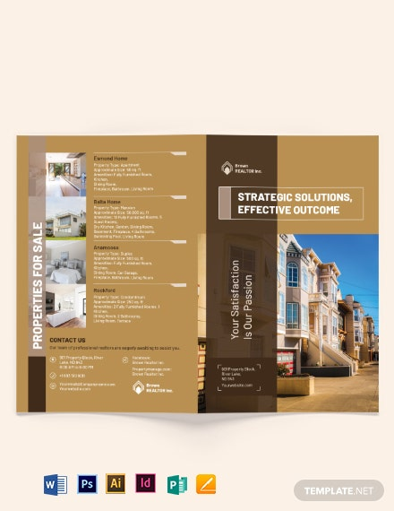 Realtor Self Promotion BiFold Brochure