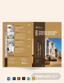 Realtor Self Promotion Bi-Fold Brochure Template
