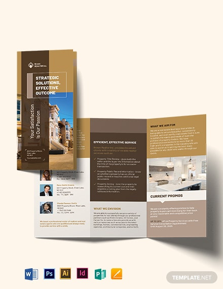 Realtor Self Promotion TriFold Brochure
