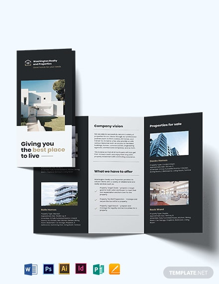 commercial realtor tri fold brochure