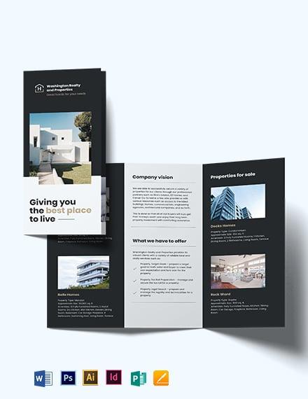 Commercial Realtor Tri-Fold Brochure Template