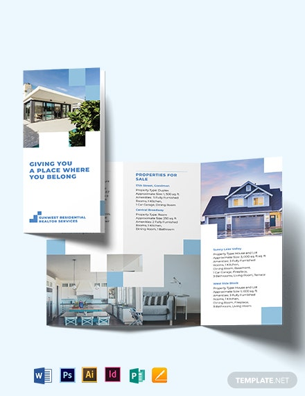 Residential Realtor Tri-fold Brochure Template