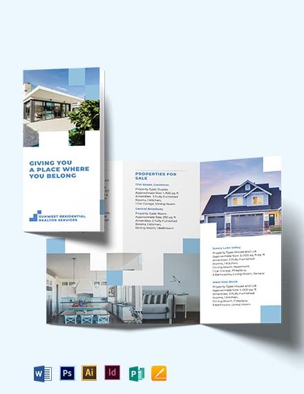 Residential Realtor Tri-fold Brochure Template