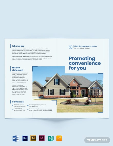 Commercial Leasing Realtor Bi-fold Brochure Template
