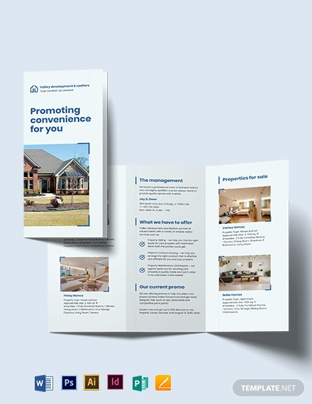 Commercial Leasing Realtor Tri-fold Brochure Template