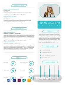 Free Experienced Civil Engineer Resume Template