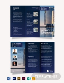 Luxury Real Estate Agent/Agency Tri-Fold Brochure Template