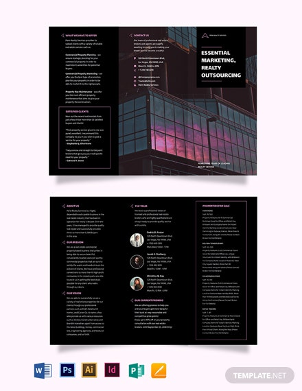 Commercial Real Estate Marketing TriFold Brochure