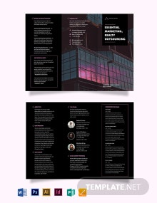 Commercial Real Estate Marketing Tri-Fold Brochure Template