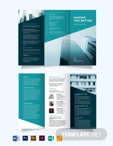 Commercial Lease Real Estate Tri-Fold Brochure Template