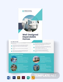 Personal Real Estate Agent/Agency Bi-Fold Brochure Template