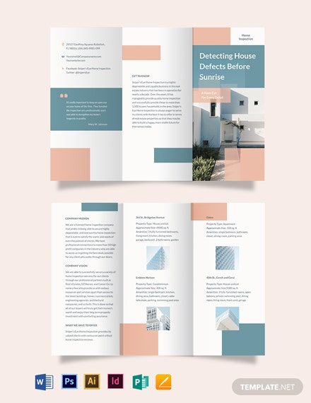Home Inspection TriFold Brochure