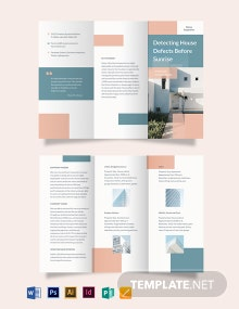 Home Inspection Tri-Fold Brochure Template
