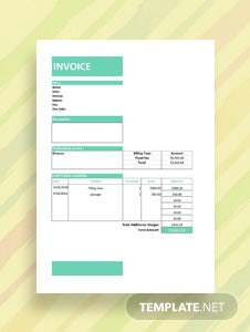 Free Legal Service Invoice Template