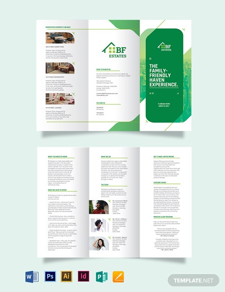 Subdivision Agent/Agency Tri-Fold Brochure Template