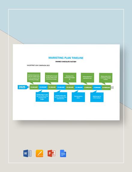 Marketing Plan Timeline Template