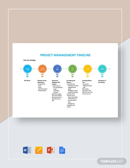Project Management Timeline Template