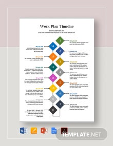 Work Plan Timeline Template