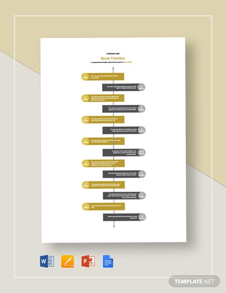 Work Timeline Template