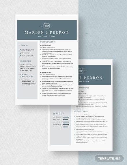 Accessory Buyer Resume Download