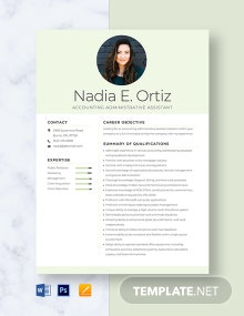 Accounting Administrative Assistant Resume Template