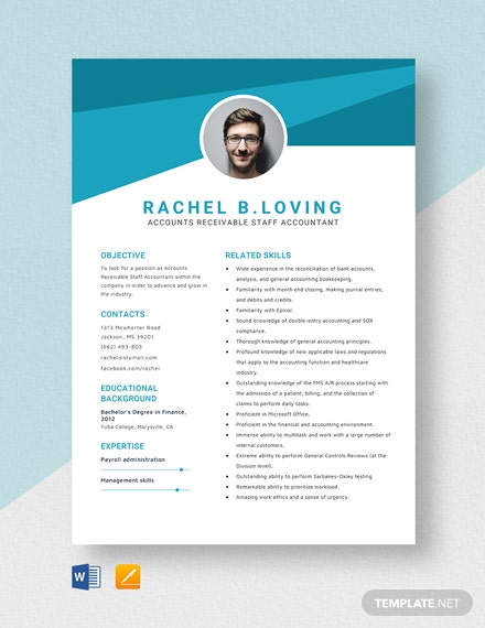 Accounts Receivable Staff Accountant Resume Template