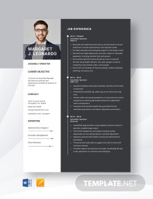 Assembly Operator Resume Template